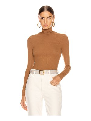 Enza Costa rib long sleeve turtleneck bodysuit