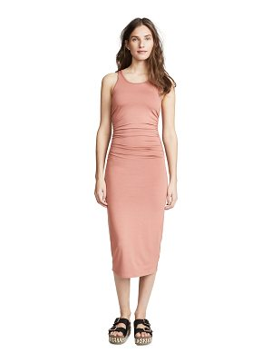 ENZA COSTA Side Ruched Midi Tank Dress