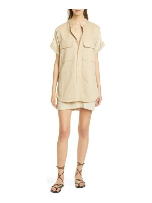 Equipment acaena utility shirtdress