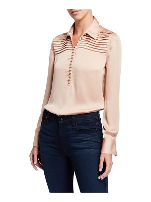 Equipment Bina Long-Sleeve Charmeuse Blouse
