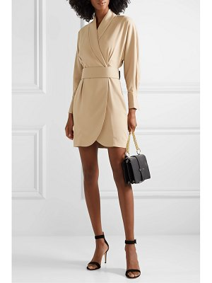 Equipment corben belted crepe wrap mini dress