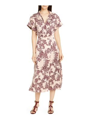 Equipment orlenna silk blend midi shirtdress