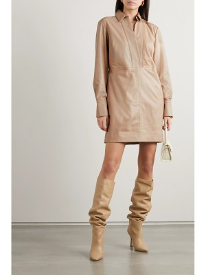 Equipment riannon leather mini dress