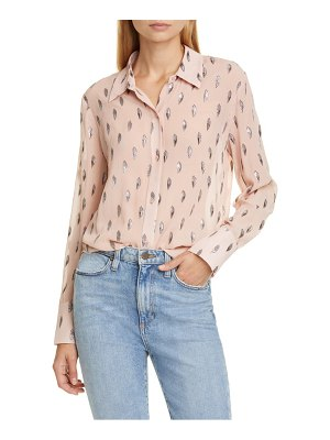 Equipment sedienne metallic leaves silk blend blouse