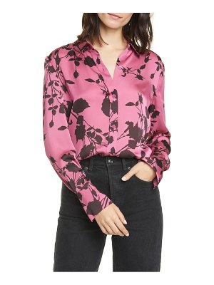 Equipment sedienne reverse floral print satin blouse