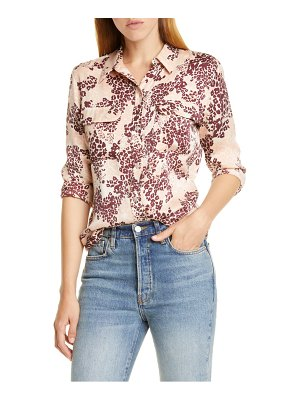 Equipment slim signature print silk blend shirt