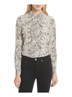 EQUIPMENT Slim Signature Python Print Silk Shirt
