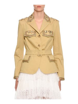 Ermanno Scervino Embellished Belted Safari Jacket