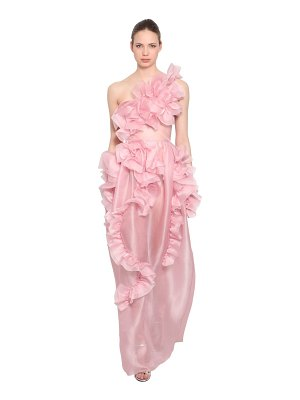 Ermanno Scervino Ruffled silk organza one shoulder dress