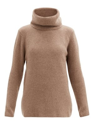 ERNEST LEOTY ombelined roll-neck ribbed wool-blend sweater
