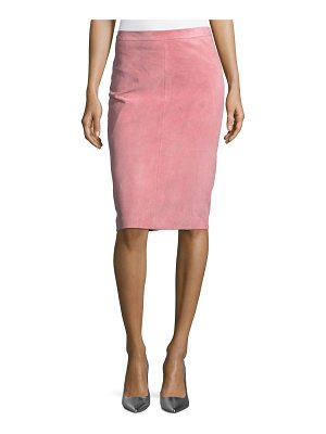 ESCADA Goat Suede Pencil Skirt