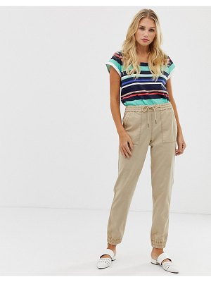 Esprit linen mix cuffed pants in beige