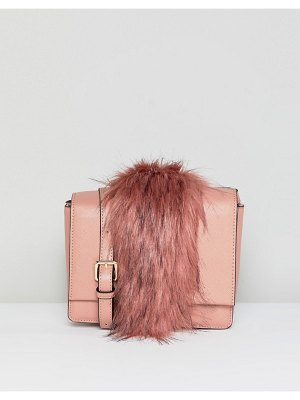 Essentiel Antwerp faux fur panel shoulder bag