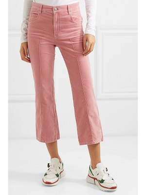 Etoile Isabel Marant anyree cropped stretch-cotton velvet flared pants