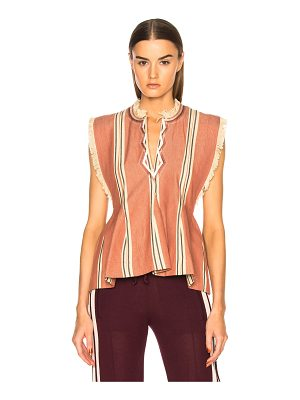 ETOILE ISABEL MARANT Drappy Summer Stripes Blouse