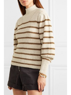 Etoile Isabel Marant georgia striped high-neck alpaca-blend sweater