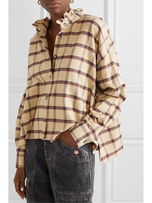 Etoile Isabel Marant ilaria ruffled checked cotton-flannel shirt