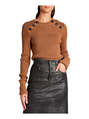 Etoile Isabel Marant Koyle Crewneck Sweater with Buttons
