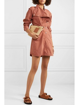Etoile Isabel Marant linore gathered cotton-canvas mini dress