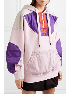 Etoile Isabel Marant nansel paneled cotton-blend jersey and twill hoodie