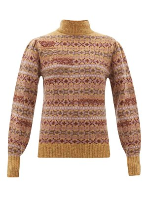 Etoile Isabel Marant ned fair isle knitted wool sweater