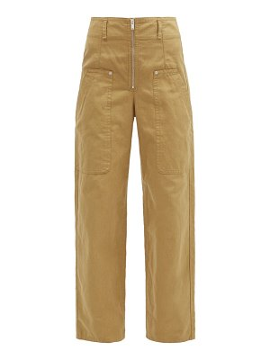 Etoile Isabel Marant paggy high-rise cotton-blend straight-leg trousers