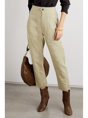 Etoile Isabel Marant raluni cotton and linen-blend tapered pants