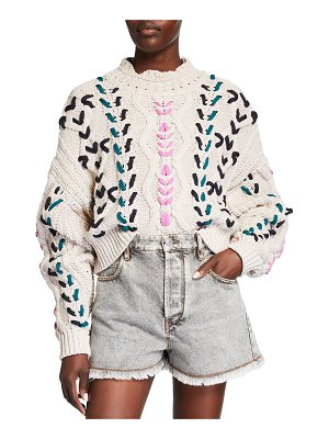 Etoile Isabel Marant Zola Embroidered Contrast Sweater
