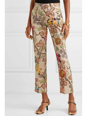 ETRO cropped floral brocade straight-leg pants