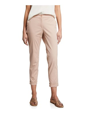 ETRO Cuffed Cotton Capri Pants