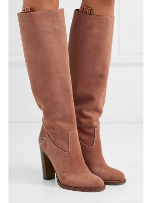 ETRO embroidered suede knee boots