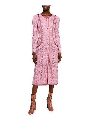 ETRO Fitted Lace Taped Coat