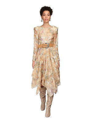 ETRO Floral print georgette & lurex dress