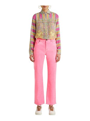 ETRO Fringe Cropped Straight-Leg Denim Jeans