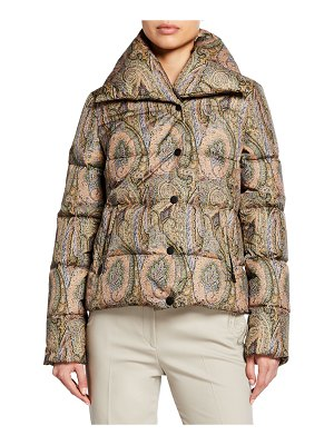 ETRO Pixelated Paisley Puffer Jacket