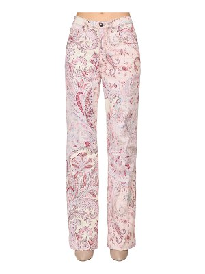 ETRO Printed denim high waist boyfriend jeans