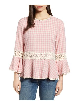 EVERLEIGH Gingham Check Peplum Top