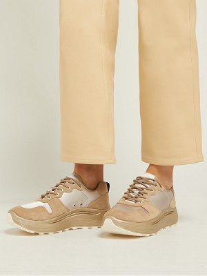 Eytys jet combo exaggerated sole suede trainers