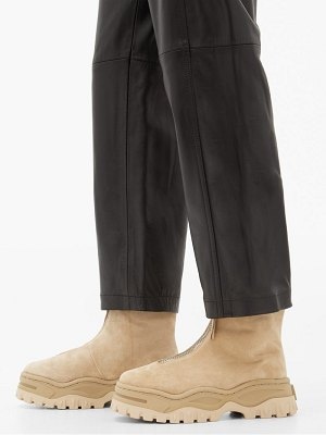 Eytys raven platform suede ankle boots