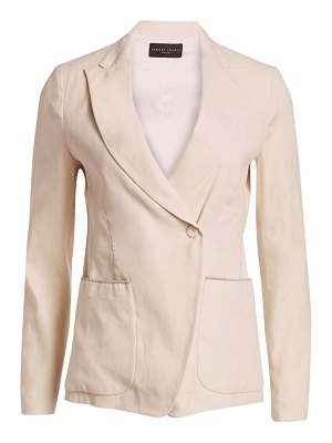 Fabiana Filippi beaded trim wrap front blazer