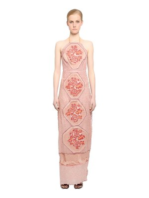 FABIANA MILAZZO Embellished silk tulle dress