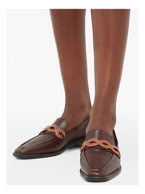 Fabrizio Viti forever lizard-effect leather loafers