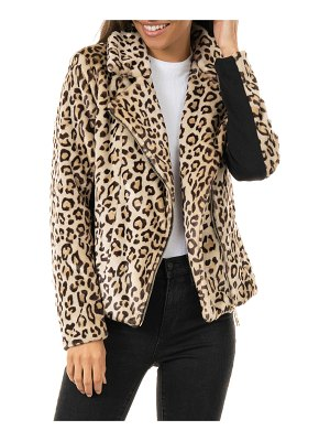 Fabulous Furs Maven Faux-Fur Moto Jacket - Inclusive Sizing