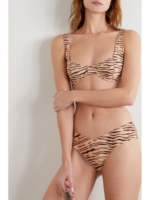 Faithfull The Brand bloom tiger-print underwired bikini top