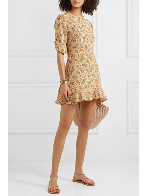 Faithfull The Brand jeanette floral-print ruffled crepe mini dress