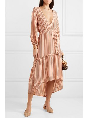 Faithfull The Brand matilda asymmetric striped crepe midi dress