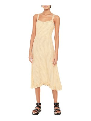Faithfull The Brand noemie check midi dress