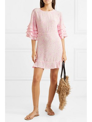 Faithfull The Brand serafina ruffled floral-print crepe mini dress