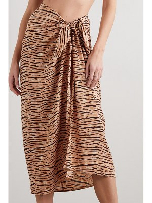 Faithfull The Brand tiger-print voile pareo