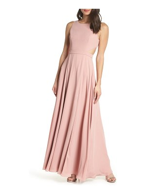 Fame and Partners side cutout evening dress